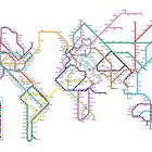 World Tube Metro Map by ArtPrints