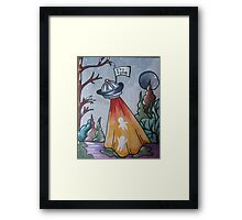 It's Time to be Abducted Framed Print