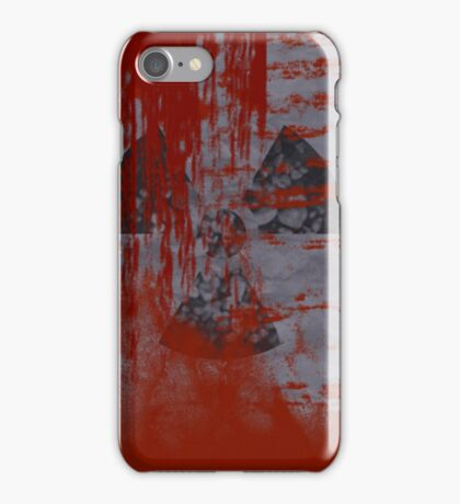 The wall may be rusted iPhone Case/Skin