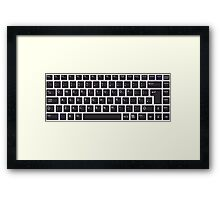 PC Computer Keyboard Buttons Design Framed Print