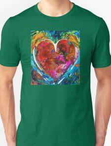 Colorful Heart Art - Everlasting - By Sharon Cummings T-Shirt
