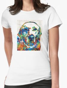 Labrador Retriever Art - Play With Me - By Sharon Cummings Womens Fitted T-Shirt