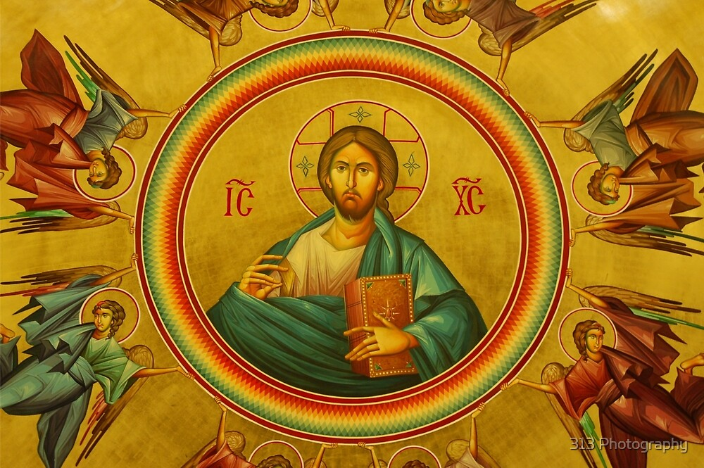 Pantocrator (All-Ruler) Icon by 313 Photography