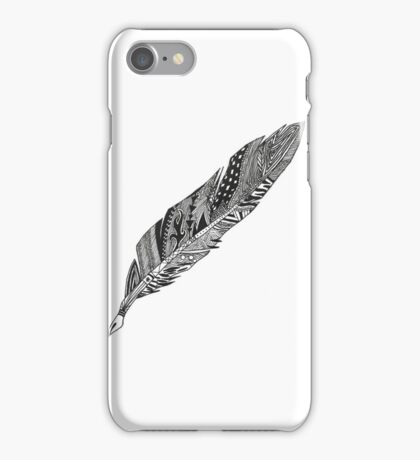 Feather - Zentangle iPhone Case/Skin