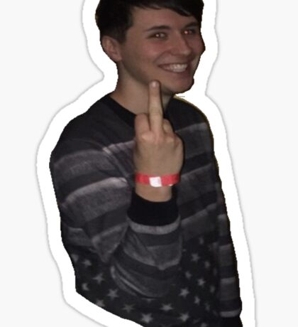 Dan Howell flipping you off Sticker