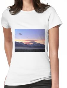 Alaska Sunrise Womens Fitted T-Shirt