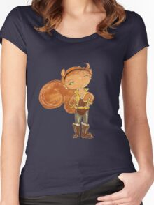 squirrel girl Women's Fitted Scoop T-Shirt