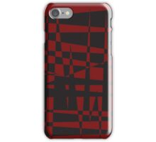 spikes in red negative iPhone Case/Skin