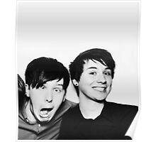 Black and White// Dan And Phil!!! Poster