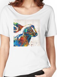 Colorful Skunk Art - Dee Stinktive - By Sharon Cummings Women's Relaxed Fit T-Shirt