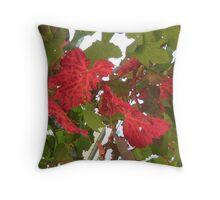 Autumn vine leaves Throw Pillow