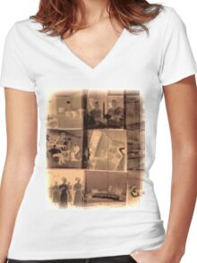 Negatives Women's Fitted V-Neck T-Shirt