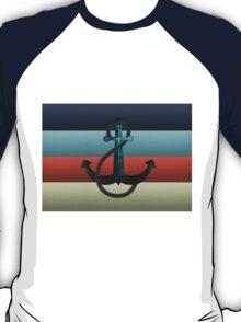 Nautical Anchor Textured Flag T-Shirt