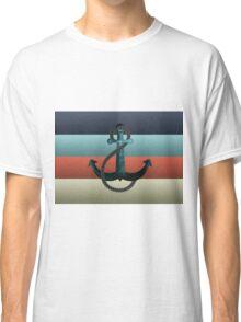 Nautical Anchor Textured Flag Classic T-Shirt