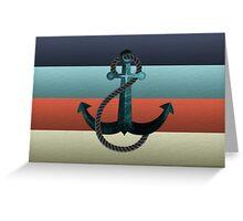 Nautical Anchor Textured Flag Greeting Card