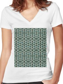 Altered Glass Women's Fitted V-Neck T-Shirt