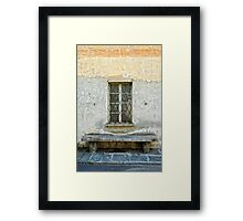 Window and bench Framed Print