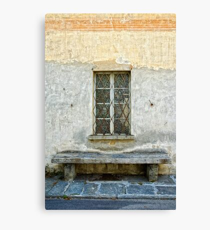 Window and bench Canvas Print