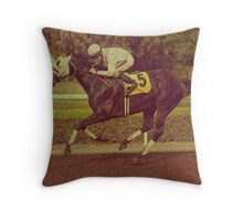 The Race Horse Throw Pillow