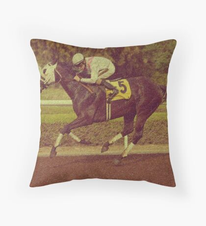 The Race Horse Throw Pillow