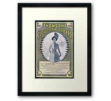 Victorian Corset Ad from 1900 Framed Print