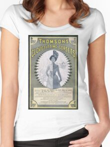 Victorian Corset Ad from 1900 Women's Fitted Scoop T-Shirt