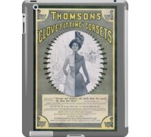 Victorian Corset Ad from 1900 iPad Case/Skin