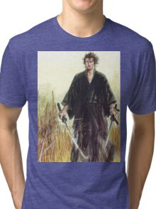 Miyamoto Musashi - Vagabond - Raw - Dual Wield  Tri-blend T-Shirt
