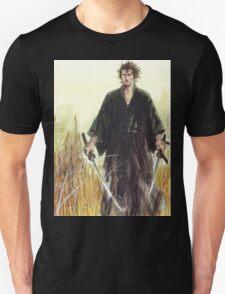 Miyamoto Musashi - Vagabond - Raw - Dual Wield  Unisex T-Shirt
