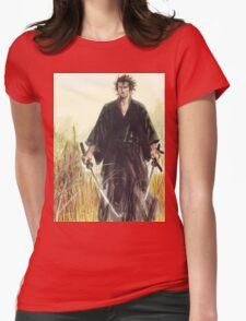 Miyamoto Musashi - Vagabond - Raw - Dual Wield  Womens Fitted T-Shirt
