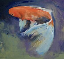 Koi Fish Painting by Michael Creese