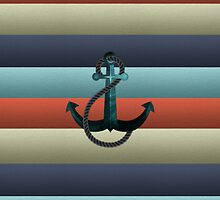 Nautical Anchor Background by kennasato