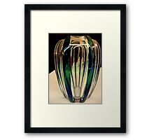 Reflections on a green vase Framed Print