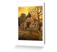 Barn and Wagon  Greeting Card