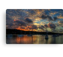Going Home - Newport, Sydney - The HDR Experience Canvas Print