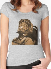 Brown Songs Women's Fitted Scoop T-Shirt