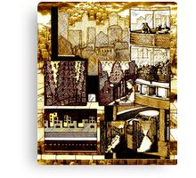 URBAN INFILL: Whistling Past the Graveyard Canvas Print