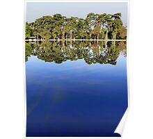 Lake view - sky mirror Poster