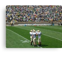 The Huddle-Notre Dame Football Canvas Print