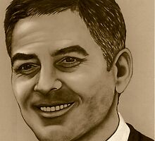 George Clooney (maybe?) by Margaret Sanderson