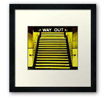 Way Out Framed Print