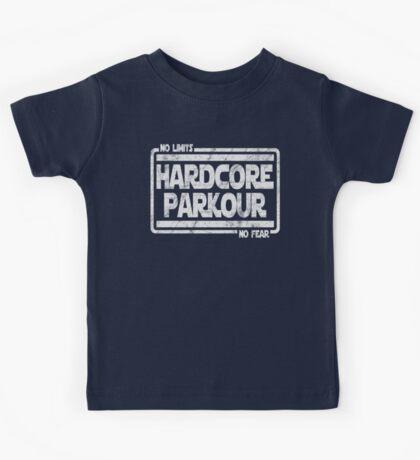 Hardcore Parkour - No Limits, No Fear Kids Tee