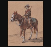 Light Horseman Sketch Baby Tee