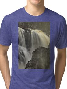 Waterfall - Fort Colunge, Quebec Tri-blend T-Shirt