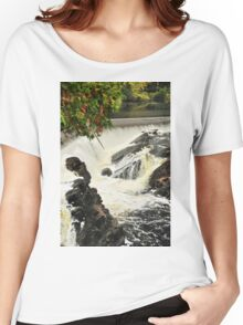 Waterfall - Fort Colunge, Quebec Women's Relaxed Fit T-Shirt