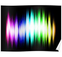 Rainbow Spectrum Light Rays Poster