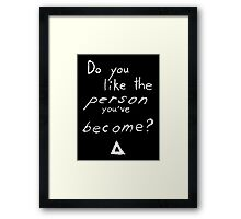 Bastille - Weight of Living pt. II (2) - Do You Like The Person You've Become? Framed Print