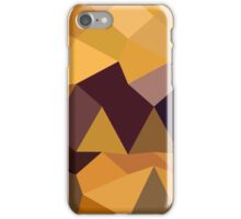Deep Lemon Yellow Abstract Low Polygon Background iPhone Case/Skin