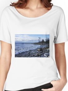 Shoreline on Lake Ontario - Amherst Island, Ontario Women's Relaxed Fit T-Shirt