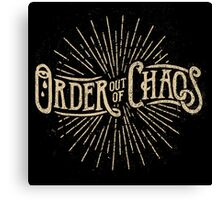 Order out of Chaos Canvas Print